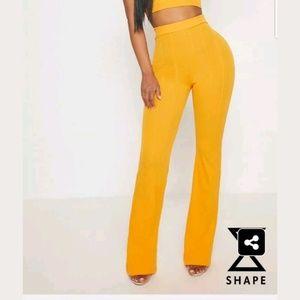 Prettylittlething orange bandage pants size 14